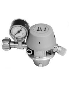 Truma gasdrukregelaar 30mb DIN X 1/4 inch links met afblaasbeveiliging/manometer