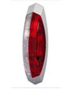 Hella contourlicht opbouw rood/ wit links 122x39mm (1 stuk)