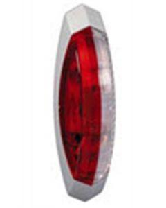 Hella contourlicht opbouw rood/ wit rechts 122x39mm (1 stuk)