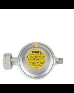 GOK gasdrukregelaar afblaasbeveiliging 30 mbar DIN X 1/4 inch links