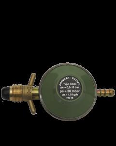 Gimeg POL soft noze gasdrukregelaar met slangpilaar 40mb 1,5kg/h
