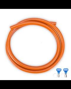 Gimeg HD gasslang pvc met 2 slangklemmen 3 meter