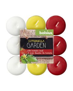Bolsius Kaars Theelichtjes Citronella/Tomatenblad 30 branduren