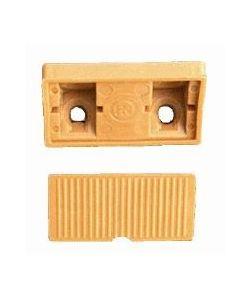 Kunststof kastverbinder 4-gaats model met los afdekkapje MAGNOLIA