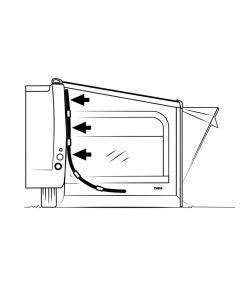 Thule Quickfit zijwand stokken glasfiber