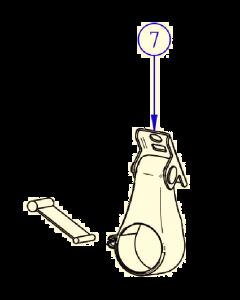 Thule fixation holder assy windscreen