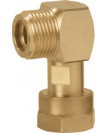 Elbow 90 graden M20x1.5 M x M20x1.5 Nut Brass